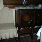Old dining room with antique furniture