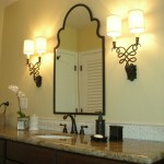 New bathroom layout, beautiful sconces from Circa, old rubbed bronze fixtures