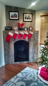 Silver Mist Travertine tile from Bedrosians gives the fireplace a fresh look.